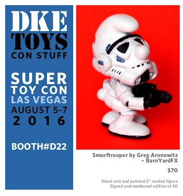 Super Toy Con 2016 Exclusive Smurftrooper Resin Figure by Greg Aronowitz (of BarnYardFX) x DKE Toys