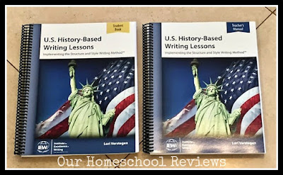 IEW U.S. History-Based Writing Lessons Review
