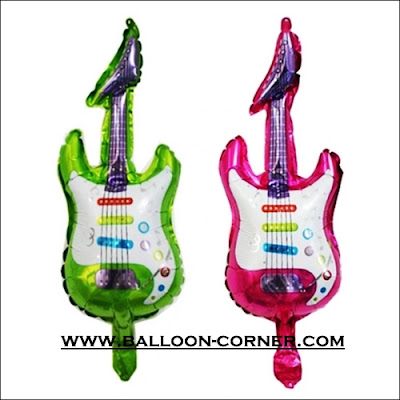 Balon Foil Gitar Mini (NEW COLOUR)