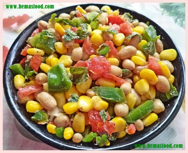 Sweet Corn Ground Nut Salad