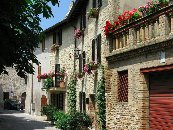 Montefalco medieval town in Italy