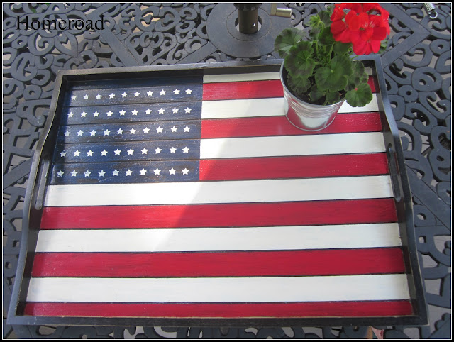 American Flag tray for Memorial day and Fourth of July