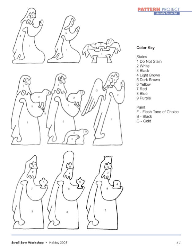 Terry's Niche: Scrollsaw Nativity Puzzle