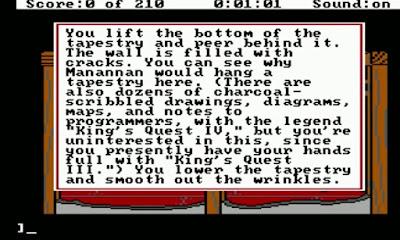 Huevo de Pascua King's Quest III - tapiz