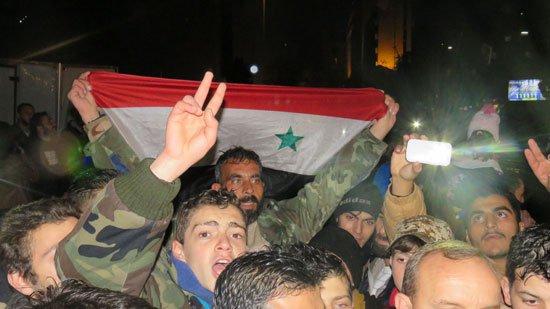 احتفالات بتحرير حلب من العصابات المسلحة