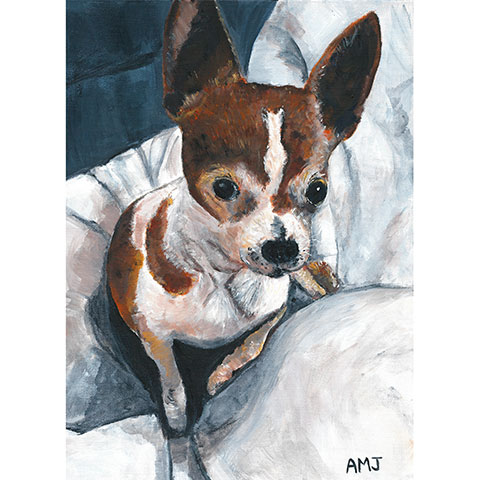 "Cachou, larger than life- 5""x7"" Art Card"