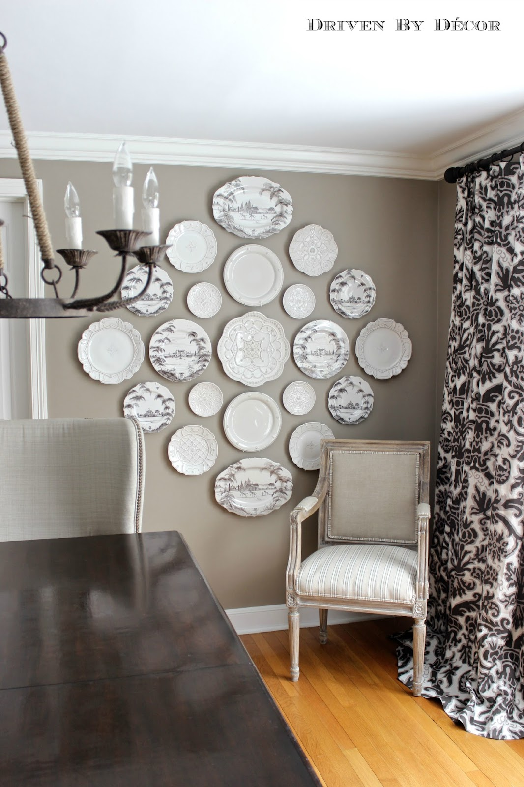 The easy how to for hanging plates on the wall driven - How to decorate a dining room wall ...