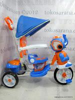 4 Sepeda Roda Tiga Wimcycle Elephant dengan Musik dan Kanopi