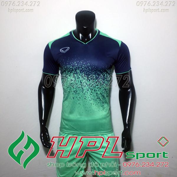 Áo bóng đá ko logo gransport xanh đen