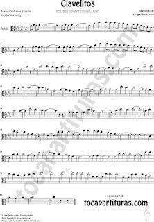 Viola Partitura de Clavelitos Sheet Music for Viola Music Score