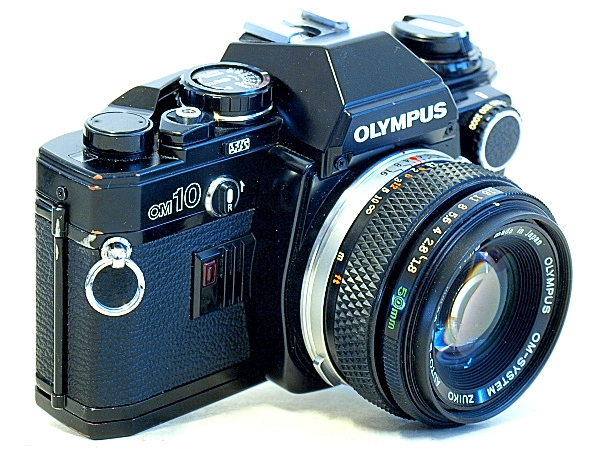 Olympus OM-10, Top Front