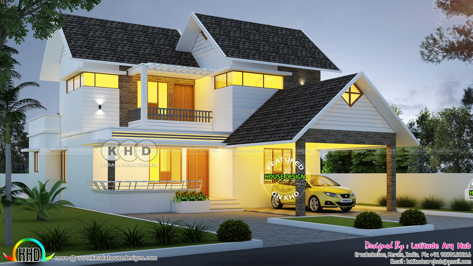 Superb 3 Bedroom Modern Double Storied House Plan Kerala Home