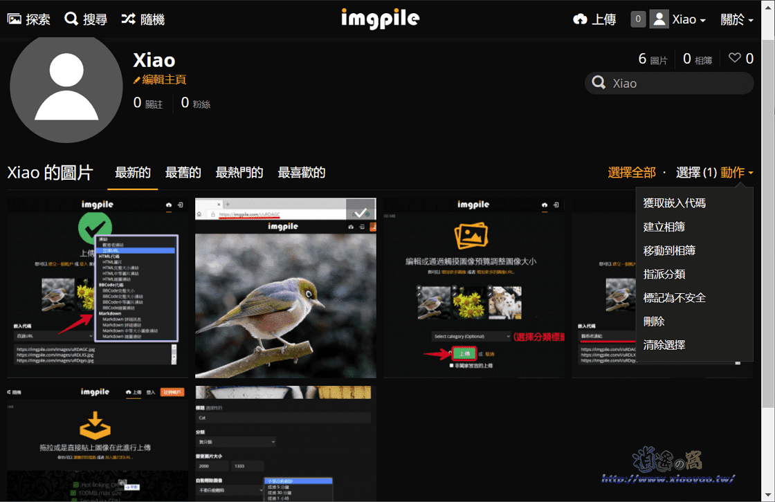 ImgPile免費圖片儲存&共享服務