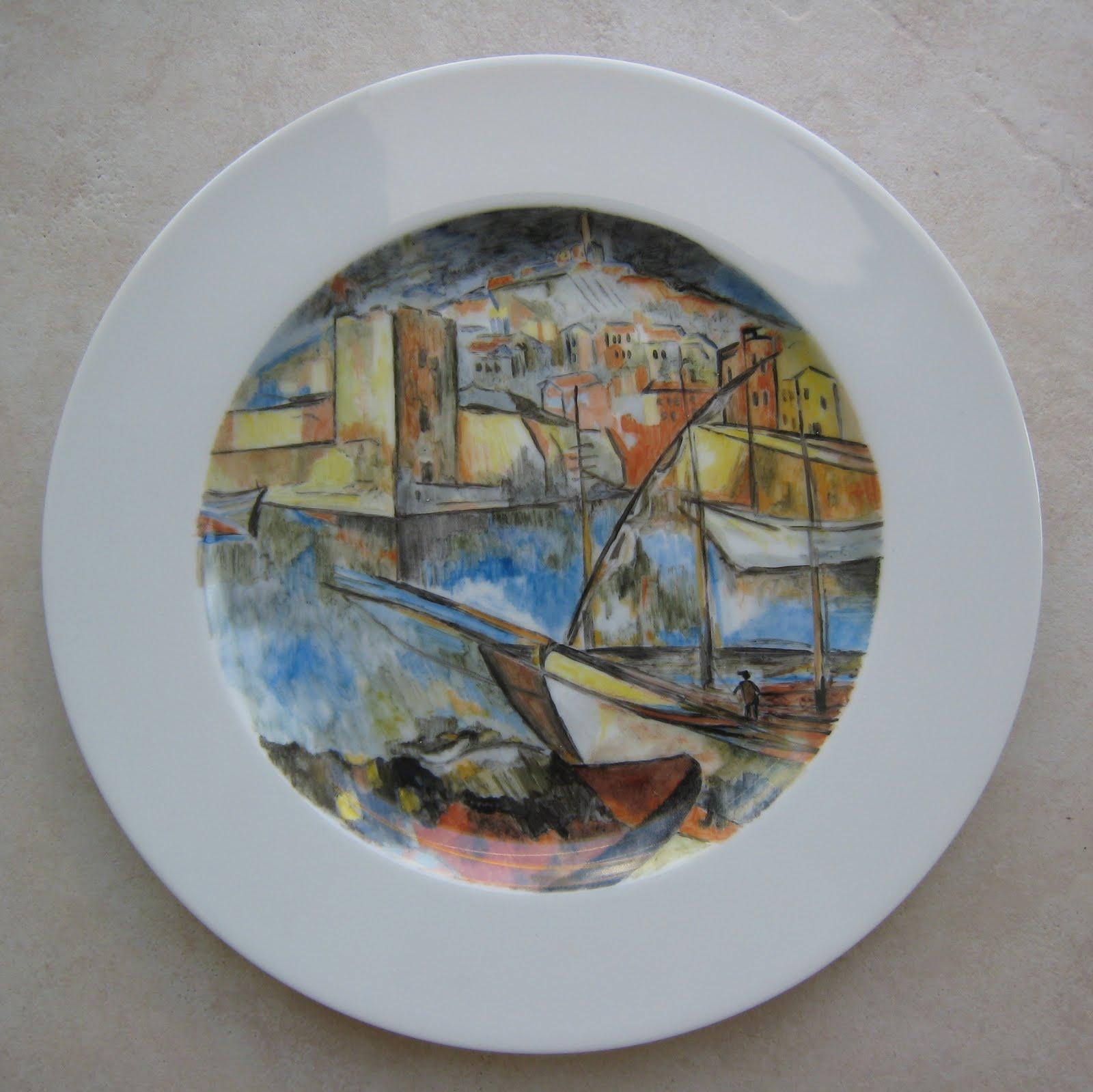 Peinture Sur Porcelaine Assiette vagualair: peintures sur porcelaine