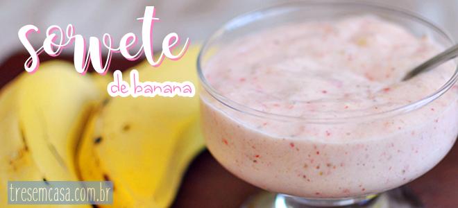 sorvete banana congelada receita