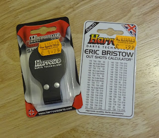 I also picked up some Harrows and Eric Bristow darts kit from The Sport Shop while in Shanklin on a recent trip to the Isle of Wight