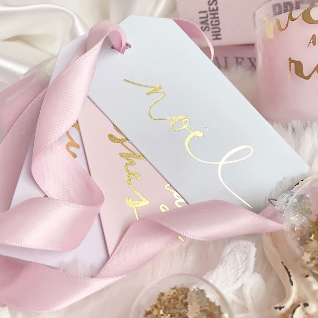Paperchase   Pastel Christmas Gift Tags with Gold Foil Script