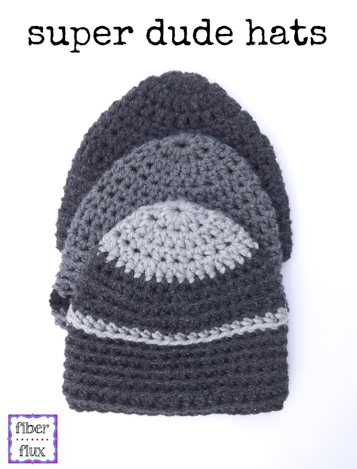 Fiber Flux: Free Crochet Pattern...Super Dude Hats!