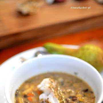 Zupa grzybowa z podgrzybków na zakwasie z pieczonym dorszem - Czytaj więcej »