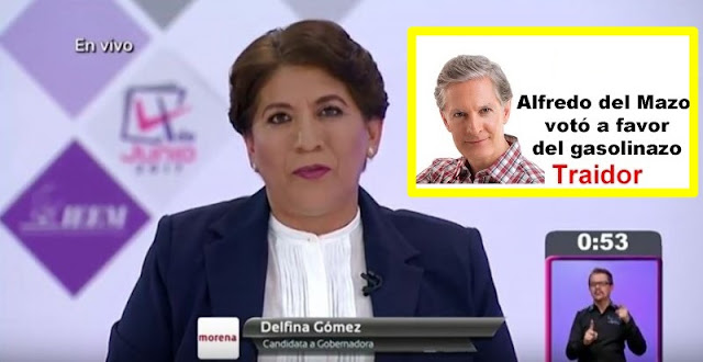 Delfina le restriega a Del Mazo el #Gasolinazo que aprobó como diputado del PRI