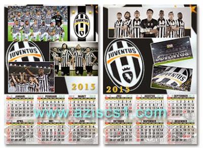Kalender 2015 Bertema Klub Juventus