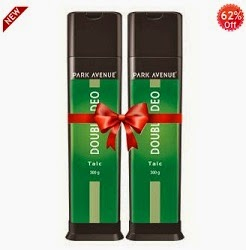 Jaw Dropping Deal:  Park Avenue Double Deo (Talc Pack of 2) worth Rs.130 for Rs.83 Only
