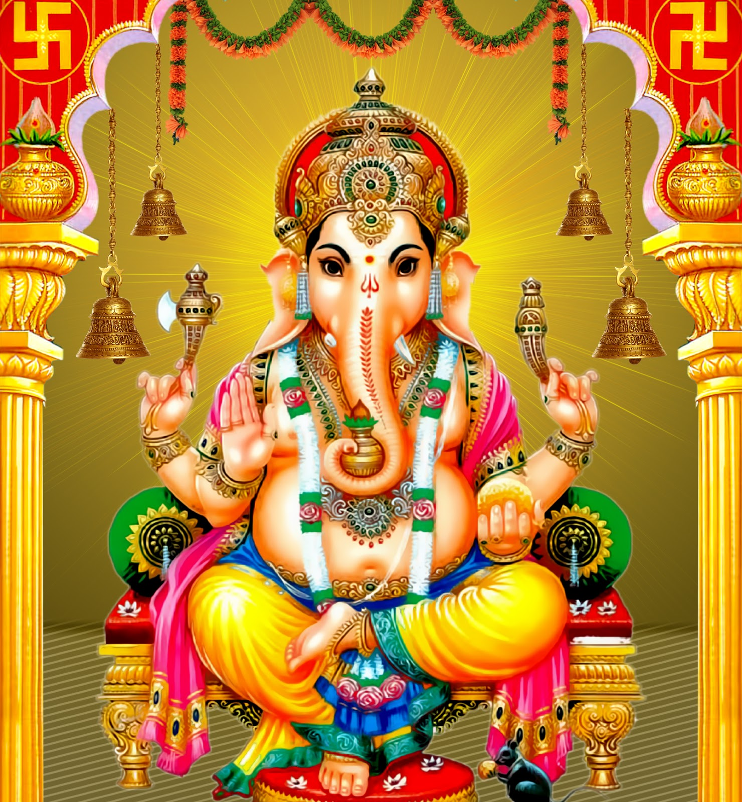 Shri Ganesh Hd Wallpaper: Lord Ganesha HD Images Free Online