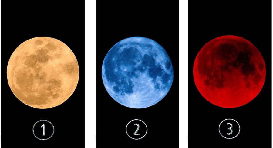 Elige una luna para recibir un  mensaje personal