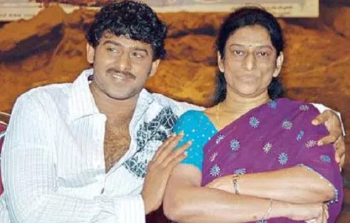 Prabhas With His Mother Siva Kumari
