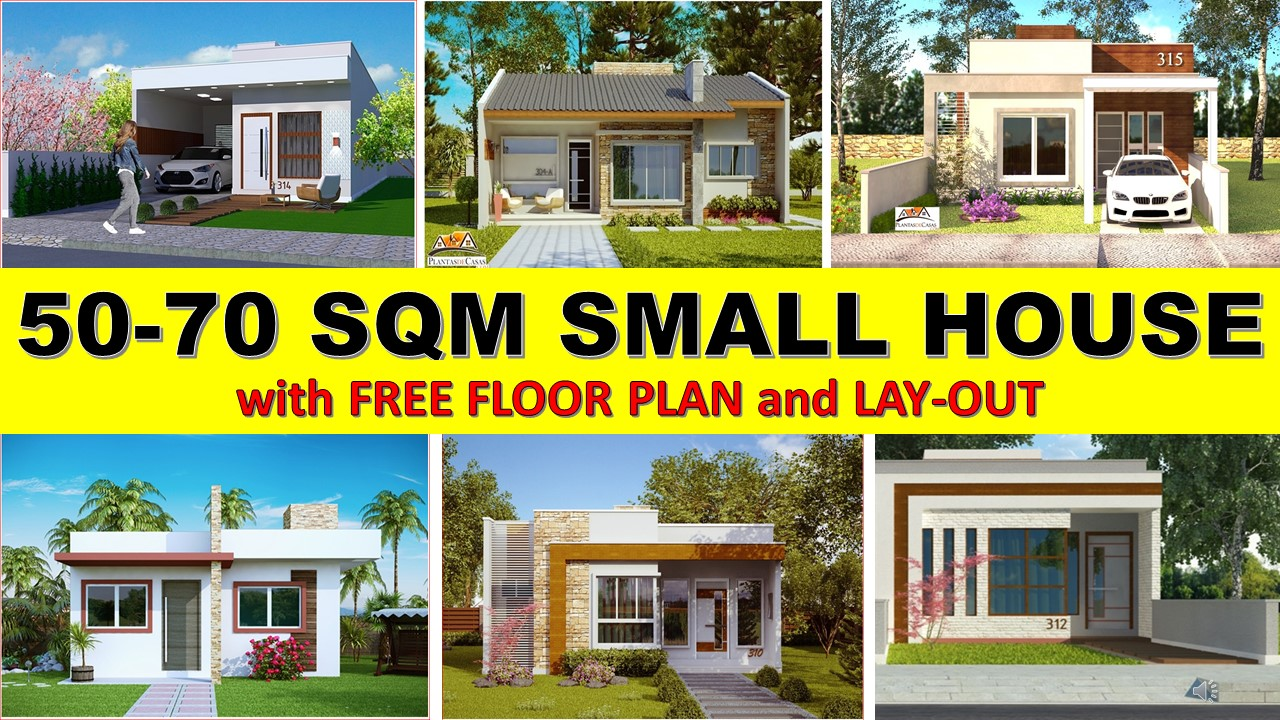 50 square meters to 70 square meters with 1 to 3 bedroom design and bathroom and some layout with garage you will be captured by their simplicity and