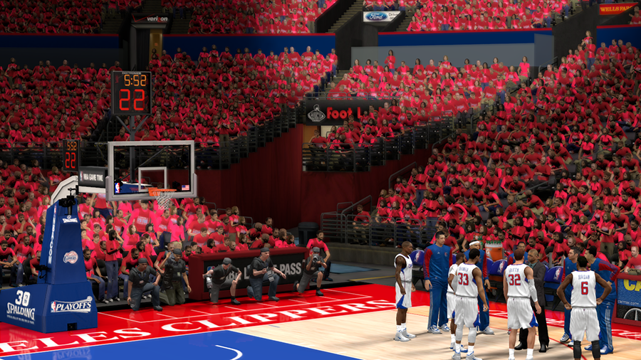 NBA 2K14 L.A. Clippers Playoffs Crowd Patch