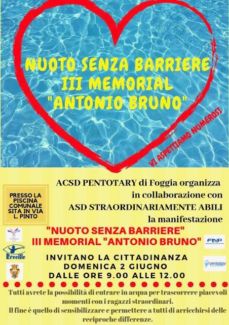 """""""Nuoto senza barriere"""", a Foggia il 3° memorial """"Antonio Bruno"""""""