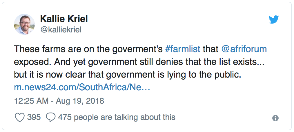 South Africa begins seizing white-owned farms: