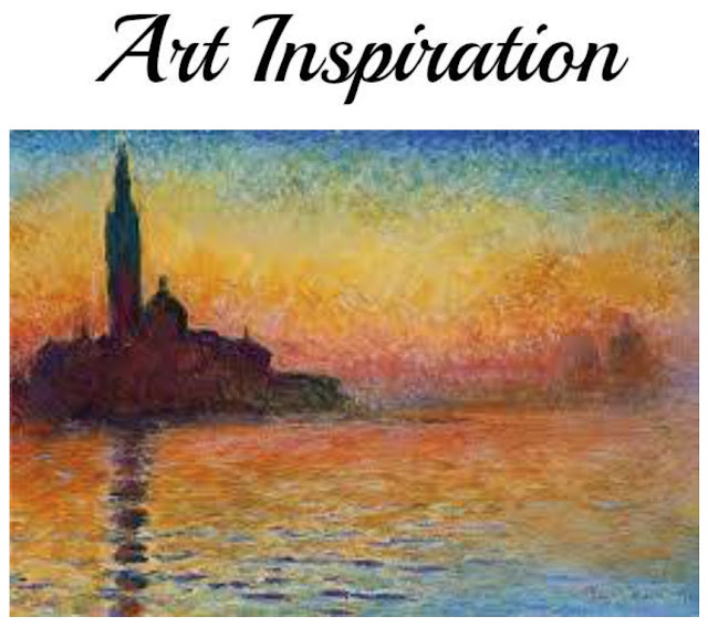 San Giorgio Maggiore at Dusk by Claude Monet Art Inspiration Blog Hop
