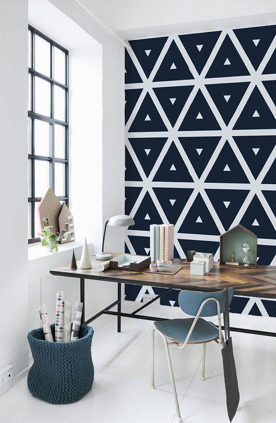 Viste tu hogar con motivos geométricos