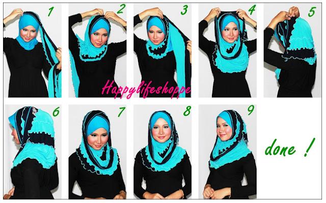 Foto gambar model jilbab paris terbaru 2016 untuk pesta dan cara memakainya