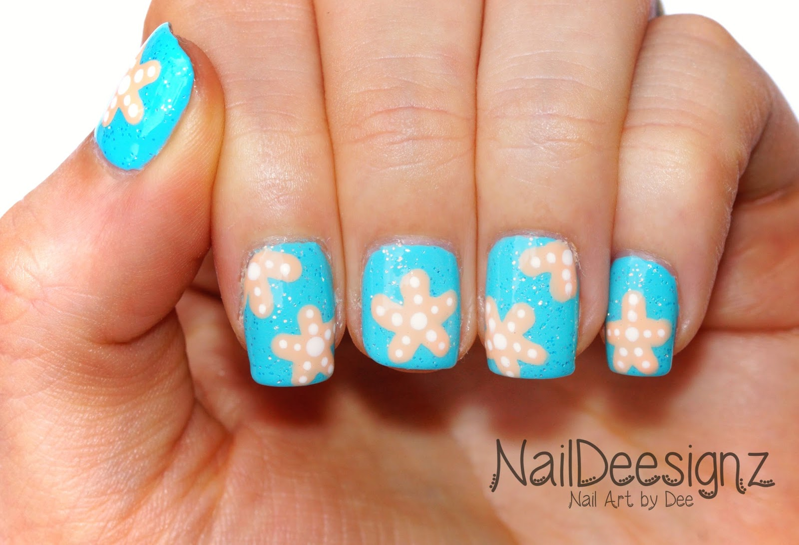 NailDeesignz: Starfish Nail Art