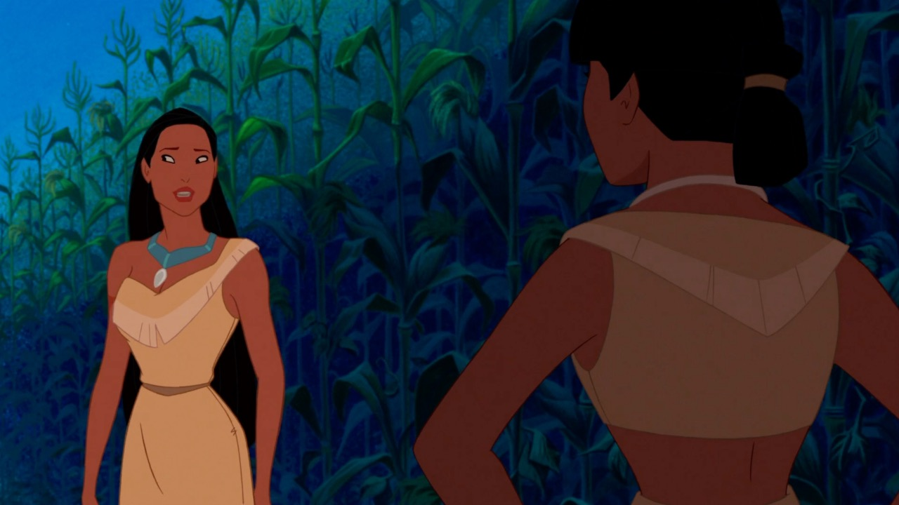 Pocahontas looking confused