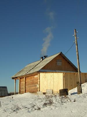 дровник зимой_