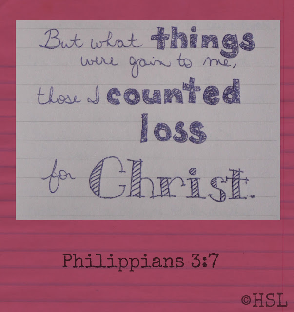 Philippians 3:7, Scripture Writing