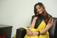Cute Actress Ashwini in Yellow Saree Exclusive  040.JPG