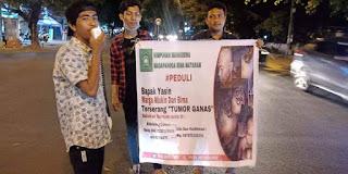<b>Pemda Terkesan Diam Bantu Warga Penderita Kanker, Mahasiswa Madapangga Mataram Gelar Aksi Galang Dana</b>