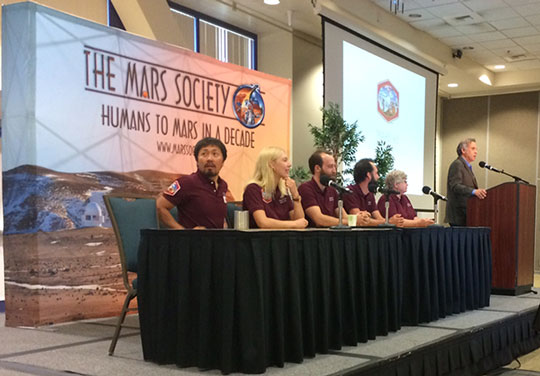 Part of Mars 160 team talk about their experience at Mars Desert Research Station