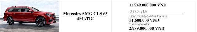 Giá xe Mercedes AMG GLS 63 4MATIC 2019 tại Mercedes Trường Chinh