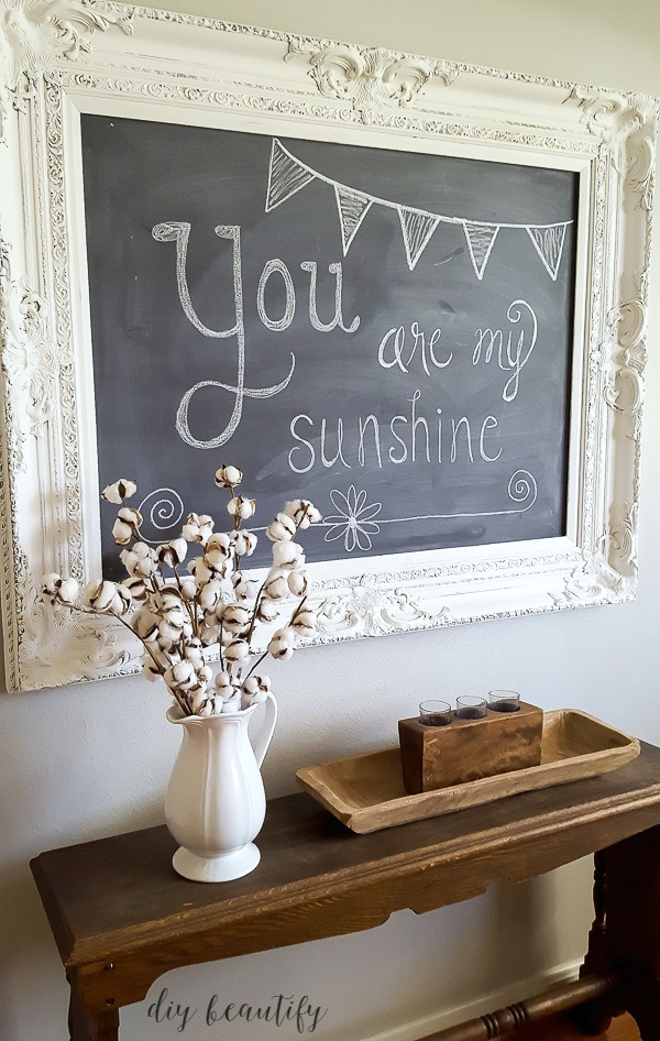 large ornate chalkboard