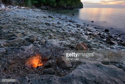 Pantai Unik Pantai Tanjung Api Sulawesi Tengah