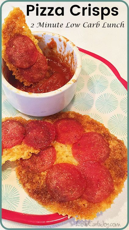 Pizza Crisps ~ 2 Minute Low Carb Lunch