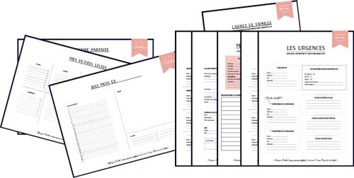 pdf gratuits printable un kit complet pour s 39 organiser au quotidien et ne rien oublier pdf. Black Bedroom Furniture Sets. Home Design Ideas