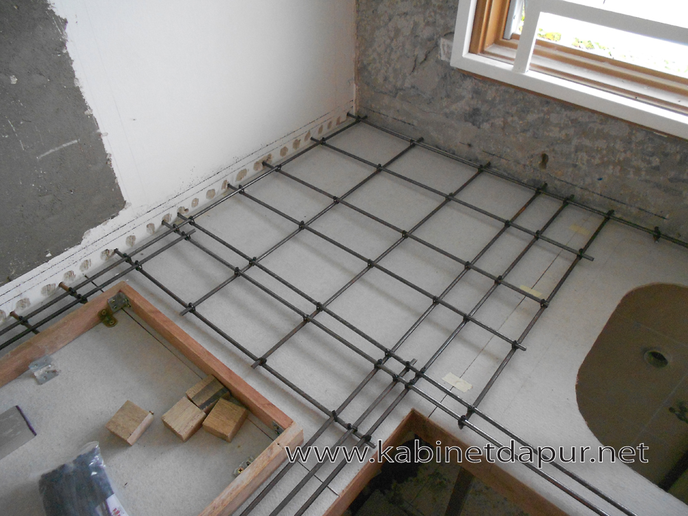 Diy Kabinet Dapur Konkrit Kontraktor Pemasangan Tile Tabletop