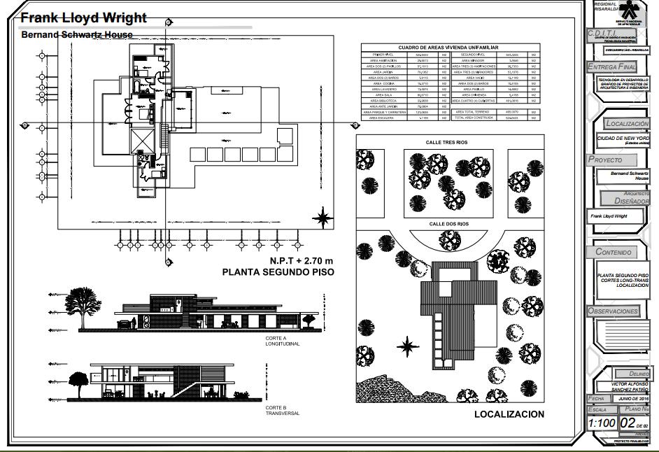 Arquitectura Casa Bernard Schwartz Frank Lloyd Wright
